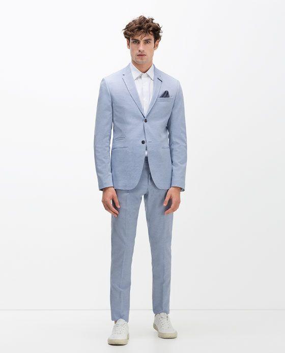 Image 1 de COSTUME EN LAINE CERAMIQUE CIEL de Zara