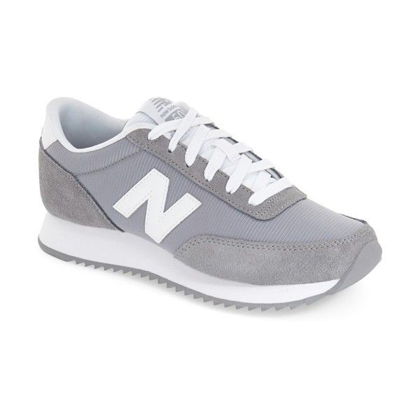 Women's New Balance '501' Sneaker (250 ILS) ❤ liked on Polyvore featuring shoes, sneakers, grey, new balance sneakers, grey shoes, gray shoes, new balance and grey sneakers