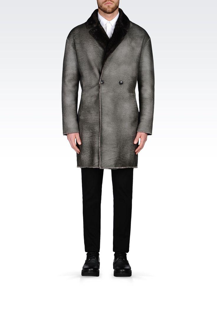 ДВУСТОРОННЕЕ ПАЛЬТО ИЗ ОВЧИНЫ: Пальто Для Мужчин by Armani - 0