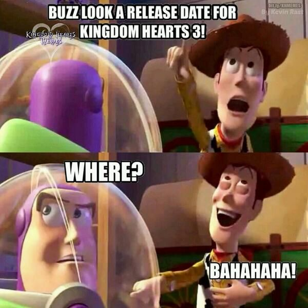 Hahahaha I just can't wait till Kingdom Hearts 3 will come out!!!