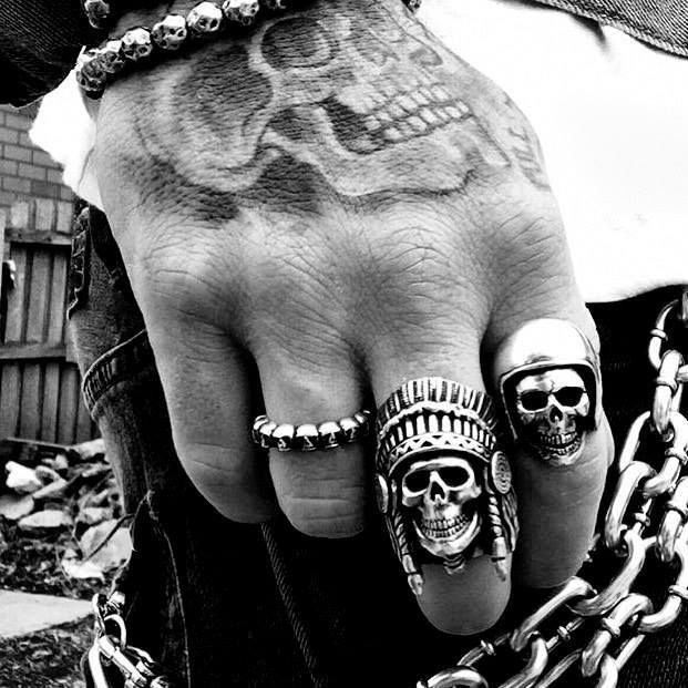 Stainless Steel Biker Rings add the final touch to your self expressive style. #BikerRings