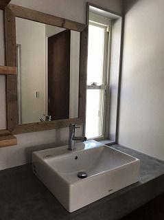 ENJOYWORKS/エンジョイワークス/washroom/bathroom/洗面所/水栓/タイル/モールテックス/鏡