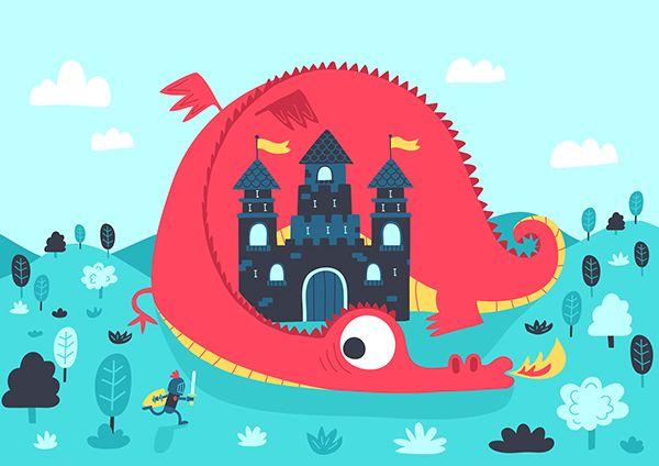 Dragon Castle on Behance