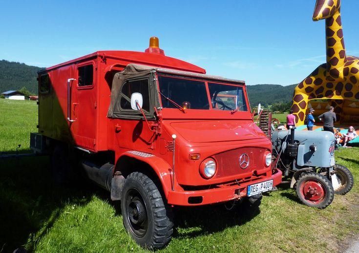Alter Feuerwehr Unimog S404 beim Oldtimer-Treffen in Kollnburg 11.06.2017