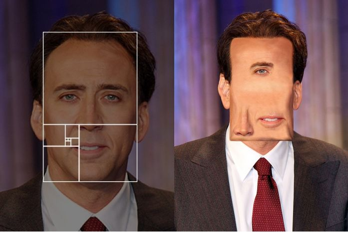 "ha. Fibonacci Sequence Makes ""Perfect"" Celebrity Portraits 