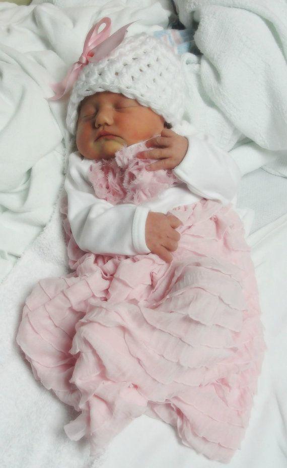 Take me Home Baby Layette Dress Newborn ruffles w/ by janibaby, $52.00
