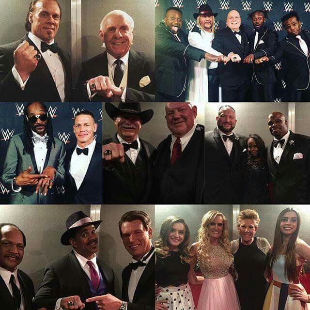 Sting Ric Flair Fabulous Freebirds Snoop Dogg Jacqueline The Godfather JBL Ron Simmons Joan Lunden with Diana Warrior