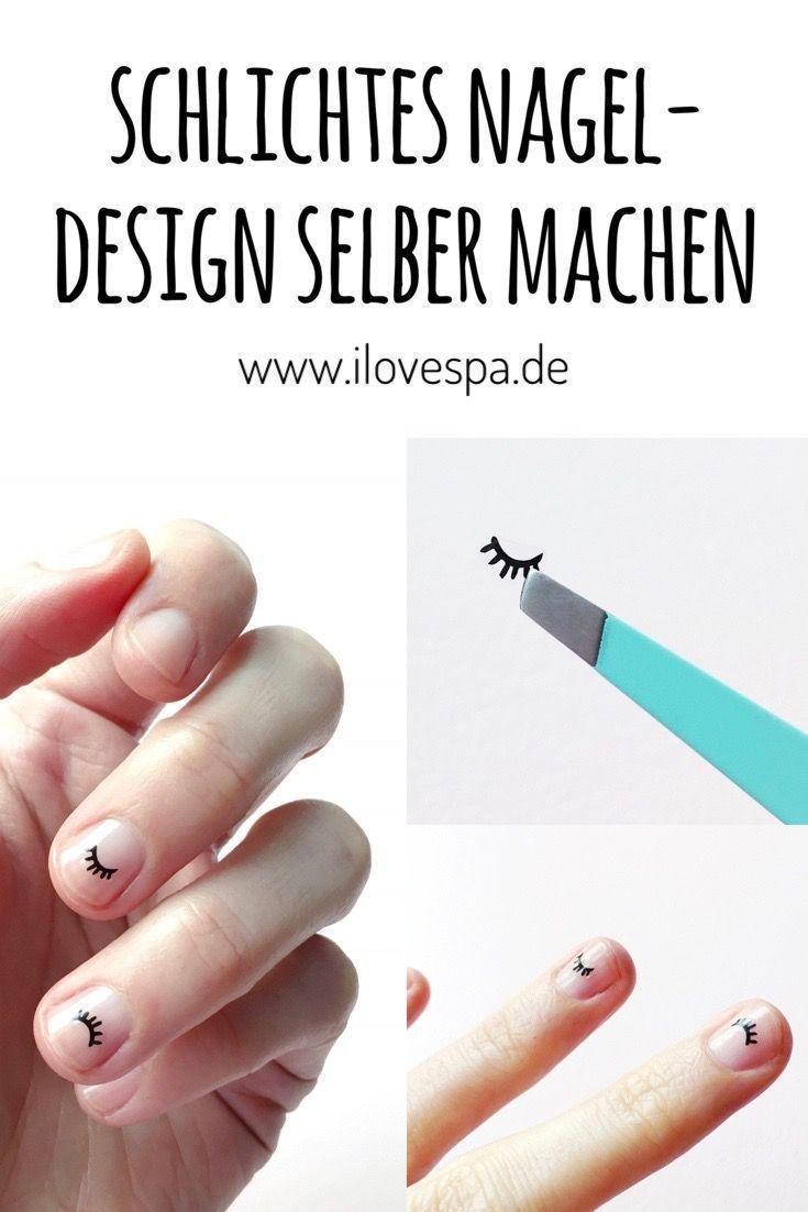 Minimal Manicure # 9 – Einfaches Nageldesign mit Wimpern – – #Genel – JacquCul ….