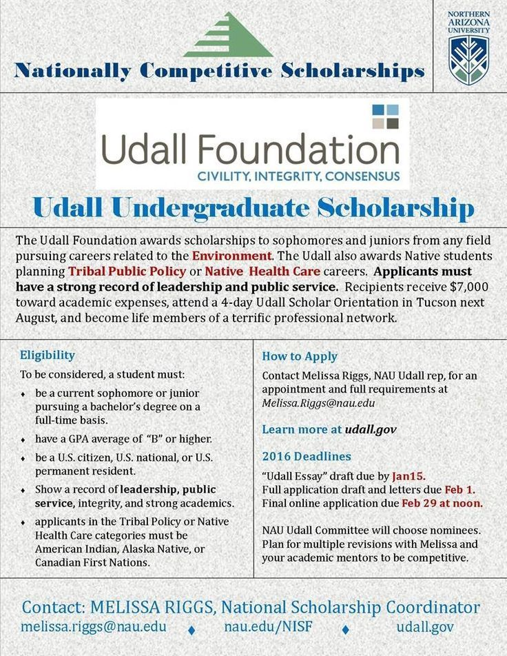 The Udall Foundation Awards Scholarships To College Awards College College Sch In 2020 Scholarships For College Scholarships College Sophomore