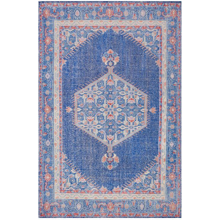 Surya Zahra Vintage-Inspired Blue Hand Knotted Wool Rug #zincdoor
