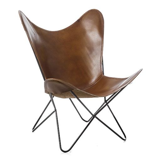 Coachella Leather Chair Dark Tan