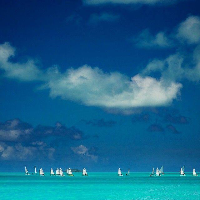 Regatta in Aitutaki, Cook Islands