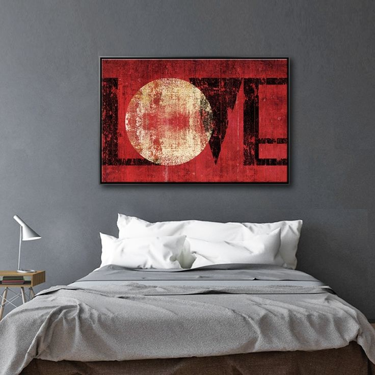 SUNNY EVENING MAKE ME CRAZY love,red,typography,wallart,canvas,canvas print,home decor, wall,framed prints,framed canvas,artwork,art
