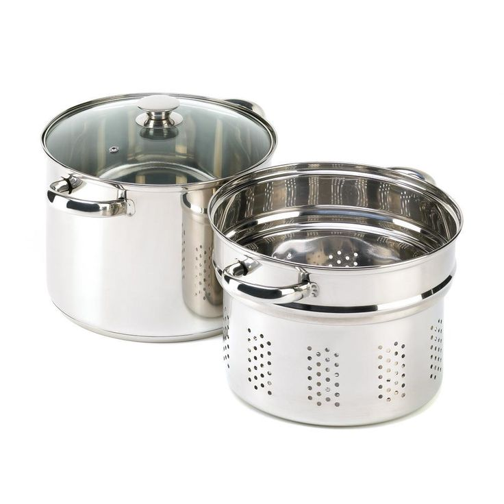 Stainless Steel Steamer and Pasta Cooker Pan Set