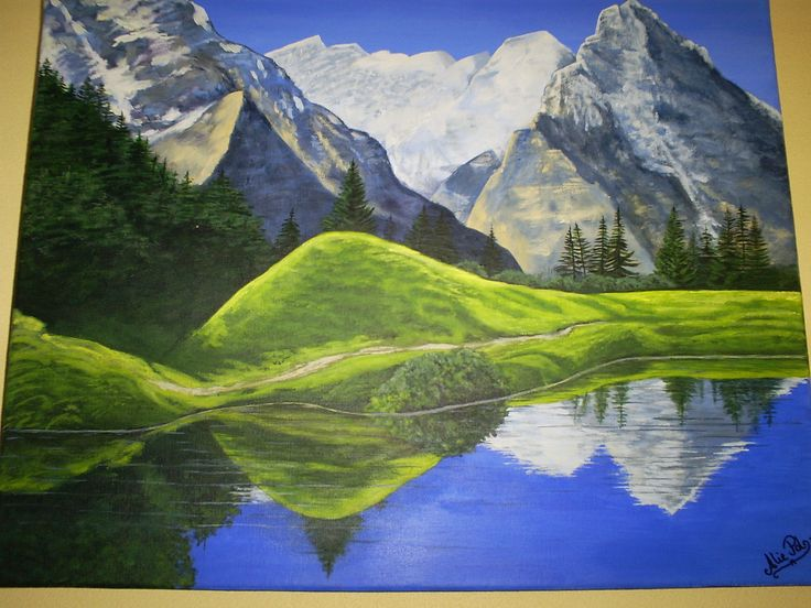Landschap Overlapping Dat Groene Heuveltje Overlapt De