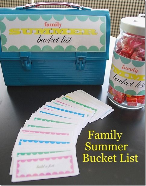 Summer Bucket List...activities on website