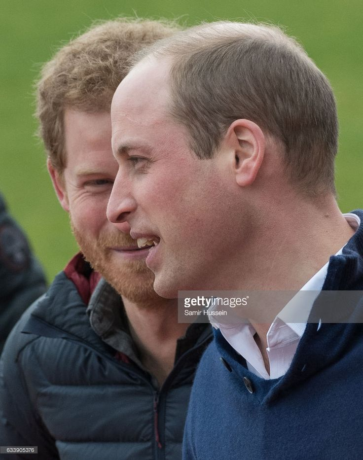 Prince Wiliam, Duke of Cambridge and Prince Harry attend a training day for the Heads Together team for the London Marathon at Olympic Park on February 5, 2017 in London, England.