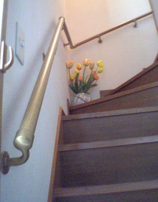 ないなら作ろう 回り階段手摺 階段に手摺がない