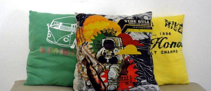 PERSONATEMAS: FAÇA VC MESMO - Almofadas de camisetas usadas.