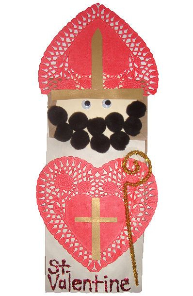 Saint Valentine Craft - this is adorable for St. Valentine's Day! ❤ I want one for my desk