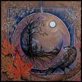 """Samhain is a Gaelic festival marking the end of the harvest season and the beginning of winter or the """"darker half"""" of the year. Traditionally, it is celebrated from the very beginning of one Celtic day to its end, or in the modern calendar, from sunset on 31 October to sunset on 1 November, this places it about halfway between the autumn equinox and the winter solstice. It is one of the four Gaelic seasonal festivals, along with Imbolc, Beltane and Lughnasadh. (Samhain Mandala - CJ Shelton)"""