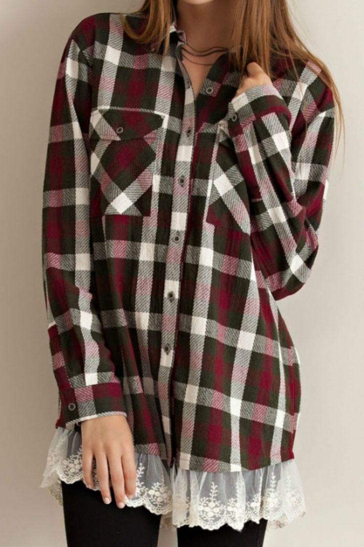 Lace Trim Flannel