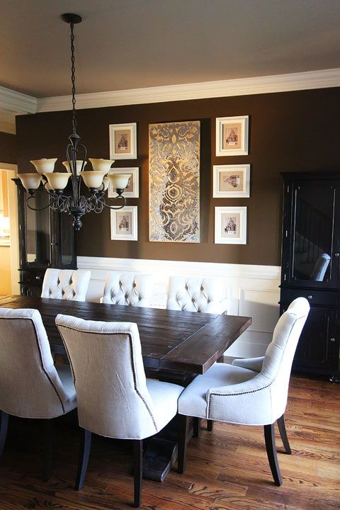 Best 25 brown dining rooms ideas on pinterest diy for Dining room update ideas