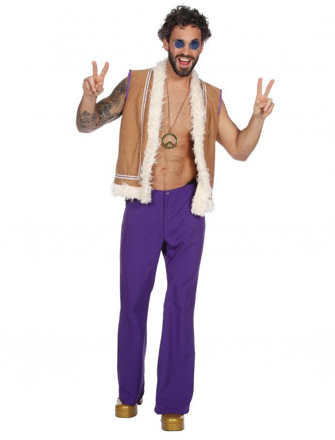 Weste in blau zum Herren Kostüm an Karneval Fasching