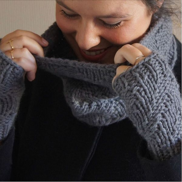 DIY tricot - Snood en laine Fonty