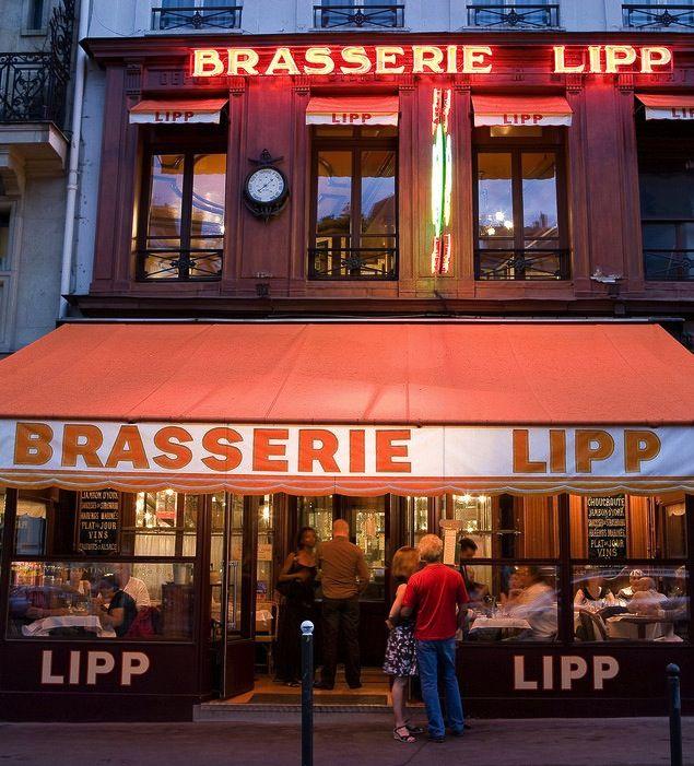 Brasserie Lipp in the 6th arrondissement