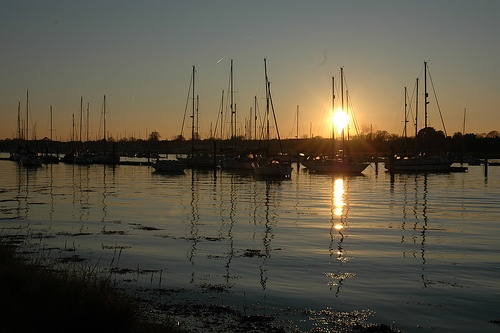 River Hamble, Hampshire, UK