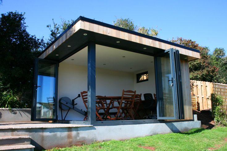 Garden studio with bi-fold doors www.swiftorg.co.uk