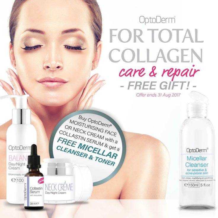 Buy #OptoDerm Moisturising Face or Neck Cream with a Collastin Serum and Get a FREE Micellar Cleanser and Toner