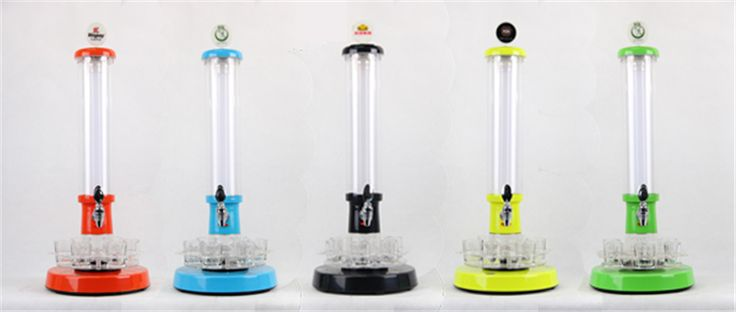 2015 New wine beer tower SG798 roulette models type1.5L beer color colorful draft beer tower bar tools  4pcs/set