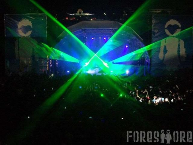 """Back in 2008 the Presets came on stage to Toto's """"Africa"""" just as the rain was coming down and the lazers were creating amazing shapes in the sky. One of the most memorable moments in Foreshore history!"""