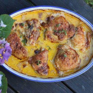 Kycklinglår i röd curry - Recept - Tasteline.com