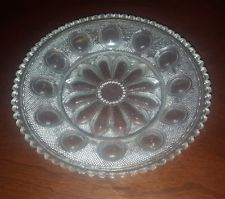 Antique American Lacy Glass 19th Century Toddy Plate