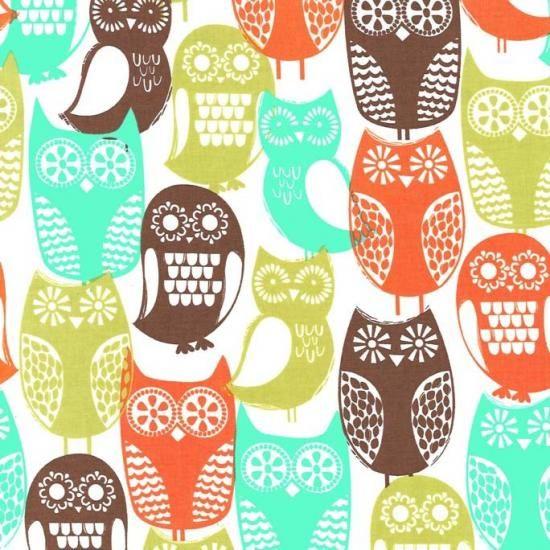 フクロウ柄 owl ファブリック生地 ミッドセンチュリー コットン100%シーチング - マイケルミラー 生地 ファブリック | キルト生地のマイケルミラー.jp