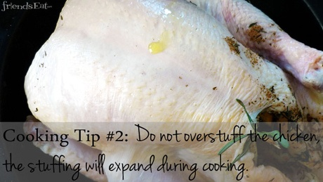 Cooking tip: Do not overstuff the chicken, the stuffing will expand during cooking.  #CookingTipChicken, Overstuff, Stuffed, Stuffing, Cookingtip, Friendseat Cooking, Expanded, Cooking Tips, The Roller Coasters