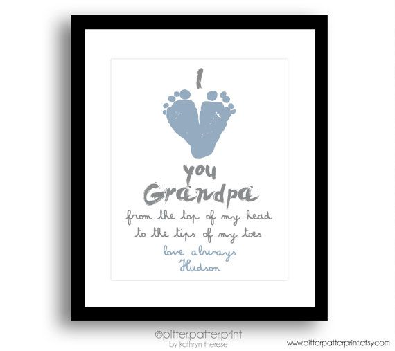 Gift for Grandpa Personalized Father's Day by PitterPatterPrint
