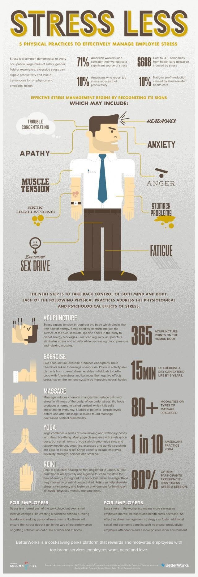 Stress Less http://www.dailyinfographic.com/ #infographics