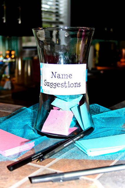 Would you leave it up to your guests to choose a name for your baby?  #babyshower #babynames http://www.topsecretmaternity.com/