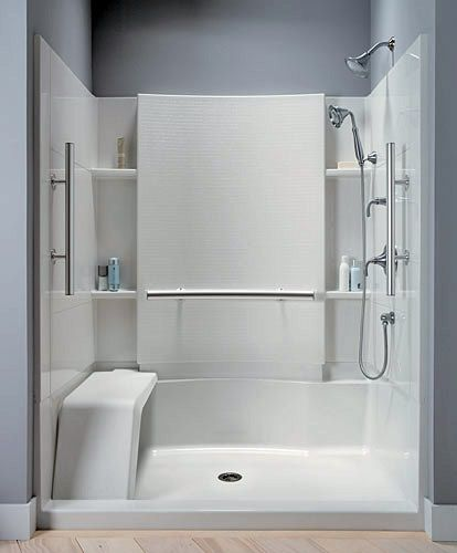 Walk-In Shower Inserts | Walk-in shower provides safe access.