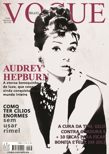 Audrey Hepburn on Vogue Brazil