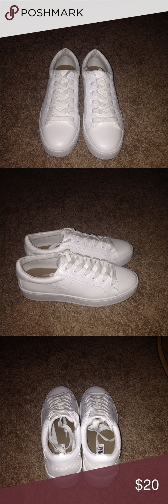 White platform sneakers White platform sneakers Shoes Sneakers