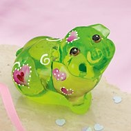 Fenton Romeo The Little Green Pig Art Glass Figurine by Lenox....