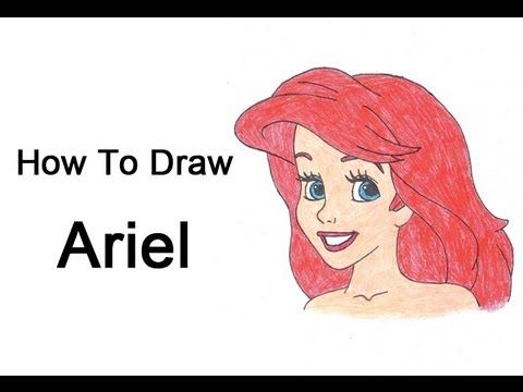 How to Draw Ariel (The Little Mermaid)