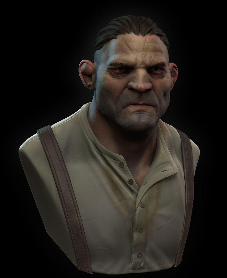 Brawler - Stylized Character Bust, Billy Lord on ArtStation at https://www.artstation.com/artwork/8vNa6