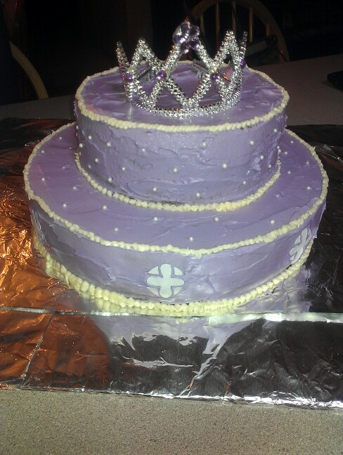 "My daughter's ""Sofia the First"" birthday cake.  :)"