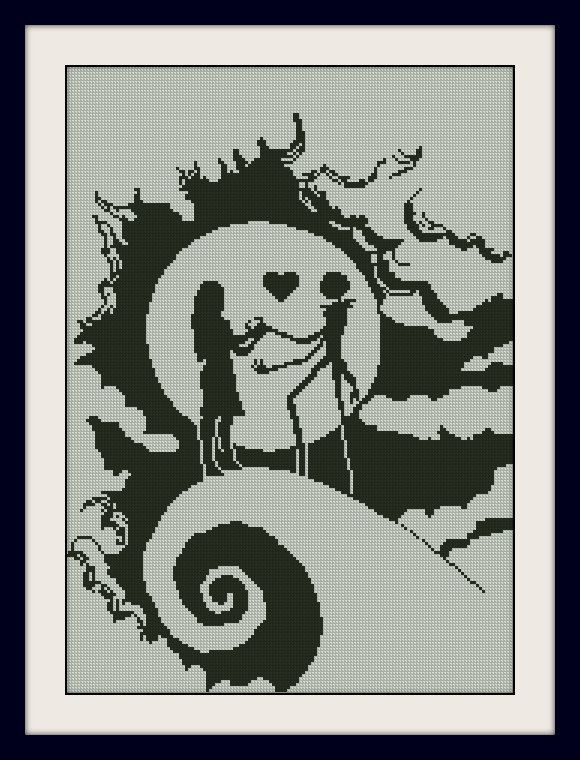 Sally and Jack Skellington Nightmare Before by MagicStitching